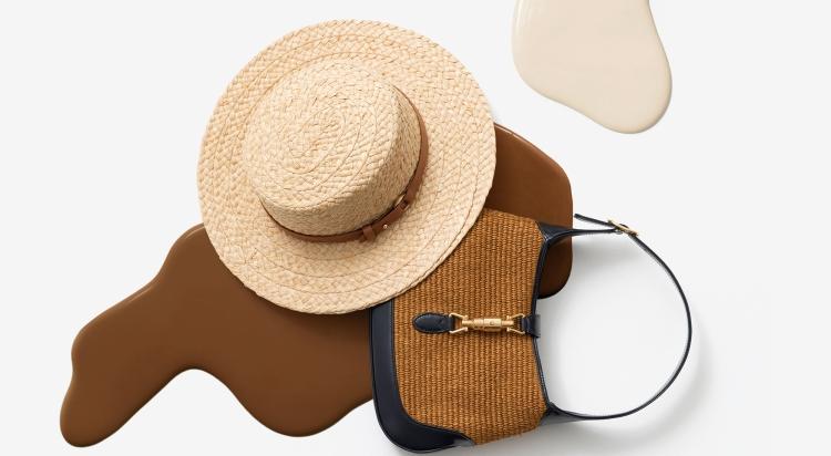 다양한 여름 소재와 만난 패션 아이템 사진